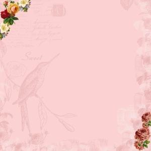 scrapbook paper - sweet spring roses