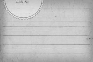 2Recipe Card Sweetly Scrapped