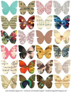 collage butterflies- sweetly scrapped