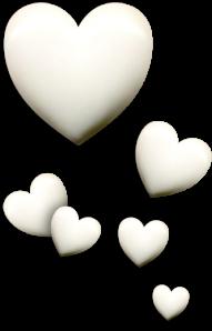 cream hearts