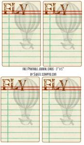fly journal cards by sweetly scrapped