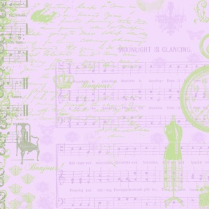 scrapbook paper green and purple