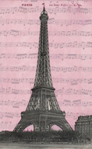 eiffel tower paris pc pink