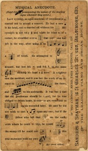 music ephemera