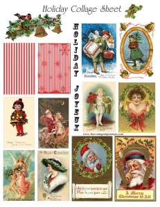 vintage printable_Holiday_collage_images