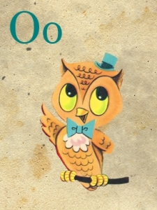 o - owl - sweetly scrapped
