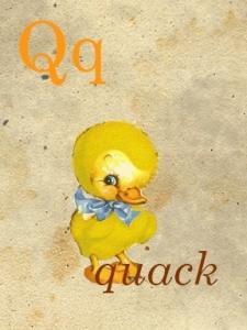 q - quack - sweetly scrapped