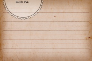 Recipe Card Sweetly Scrapped