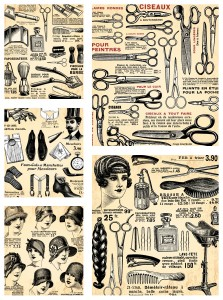 vintage-hairdresser-design-elements-vector