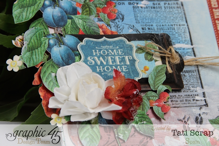 Tati,Canvas,Home Sweet Home, Graphic 45, Photo 6