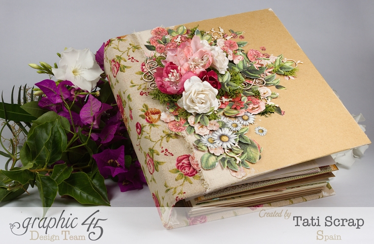 Tati, Wedding Planner, Mixed Media Album, Time to Flourish, Product by Graphic 45, Photo 1