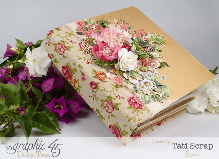Tati, Wedding Planner, Mixed Media Album, Time to Flourish, Product by Graphic 45, Photo 2