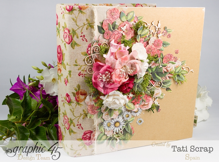 Tati, Wedding Planner, Mixed Media Album, Time to Flourish, Product by Graphic 45, Photo 3