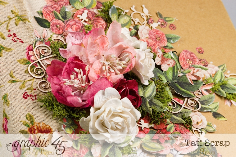Tati, Wedding Planner, Mixed Media Album, Time to Flourish, Product by Graphic 45, Photo 4