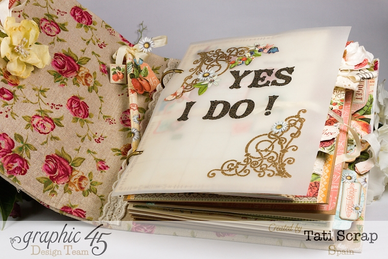 Tati, Wedding Planner, Mixed Media Album, Time to Flourish, Product by Graphic 45, Photo 5