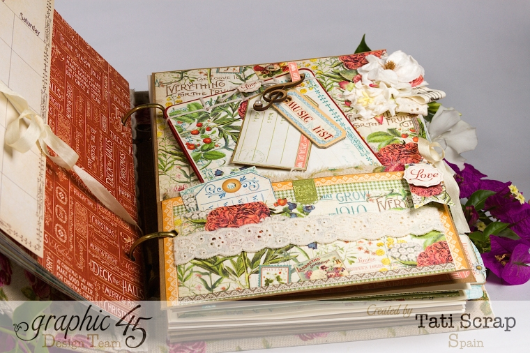 Tati, Wedding Planner, Mixed Media Album, Time to Flourish, Product by Graphic 45, Photo10