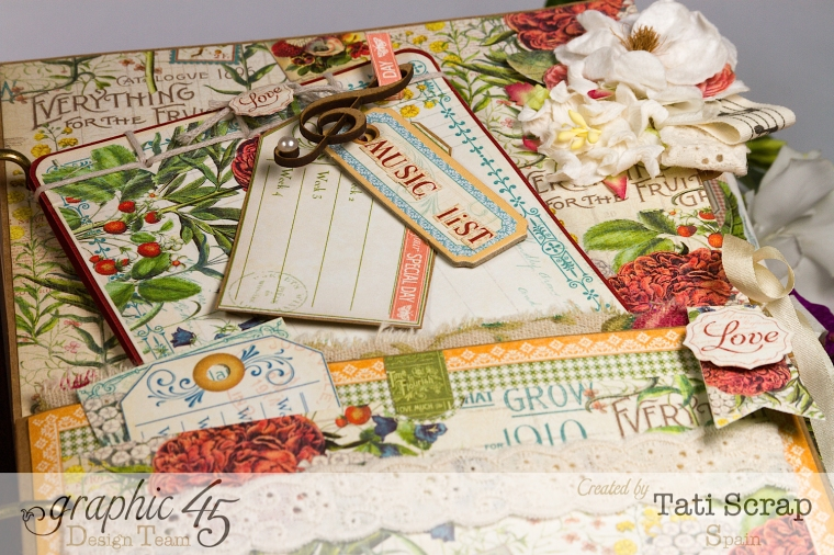 Tati, Wedding Planner, Mixed Media Album, Time to Flourish, Product by Graphic 45, Photo11