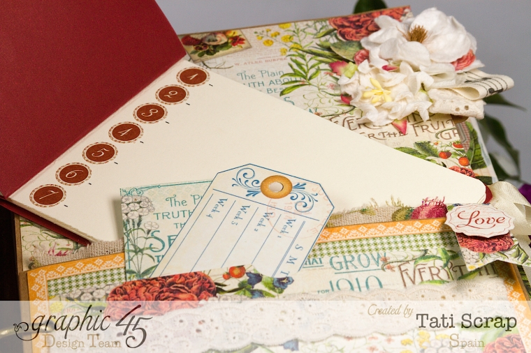 Tati, Wedding Planner, Mixed Media Album, Time to Flourish, Product by Graphic 45, Photo12