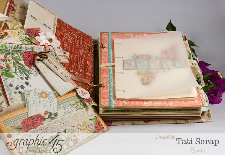 Tati, Wedding Planner, Mixed Media Album, Time to Flourish, Product by Graphic 45, Photo13