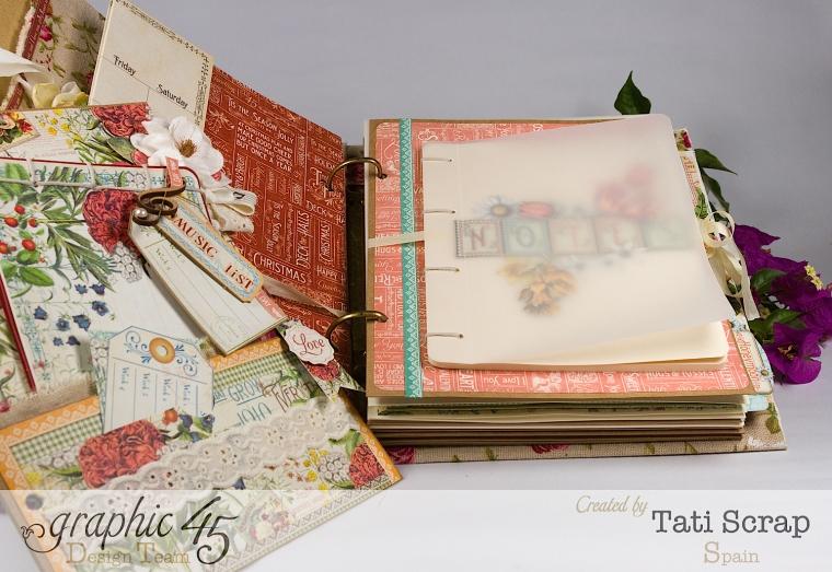 Tati, Wedding Planner, Mixed Media Album, Time to Flourish, Product by Graphic 45, Photo13