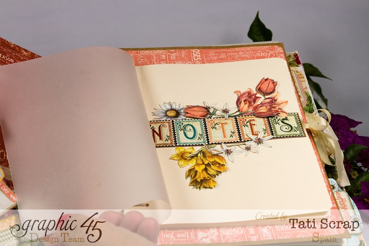 Tati, Wedding Planner, Mixed Media Album, Time to Flourish, Product by Graphic 45, Photo14
