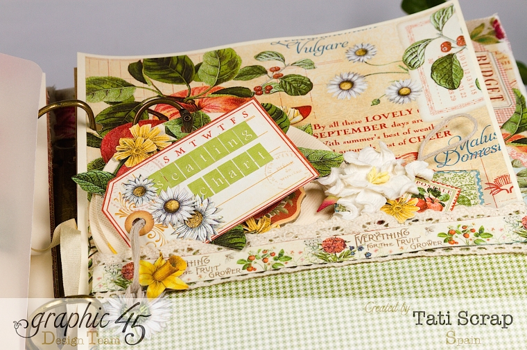 Tati, Wedding Planner, Mixed Media Album, Time to Flourish, Product by Graphic 45, Photo15