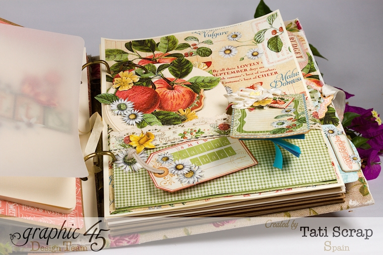 Tati, Wedding Planner, Mixed Media Album, Time to Flourish, Product by Graphic 45, Photo17