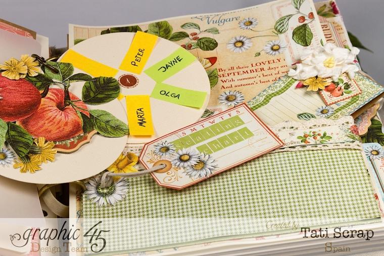 Tati, Wedding Planner, Mixed Media Album, Time to Flourish, Product by Graphic 45, Photo18