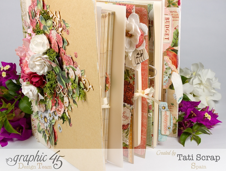 Tati, Wedding Planner, Mixed Media Album, Time to Flourish, Product by Graphic 45, Photo20