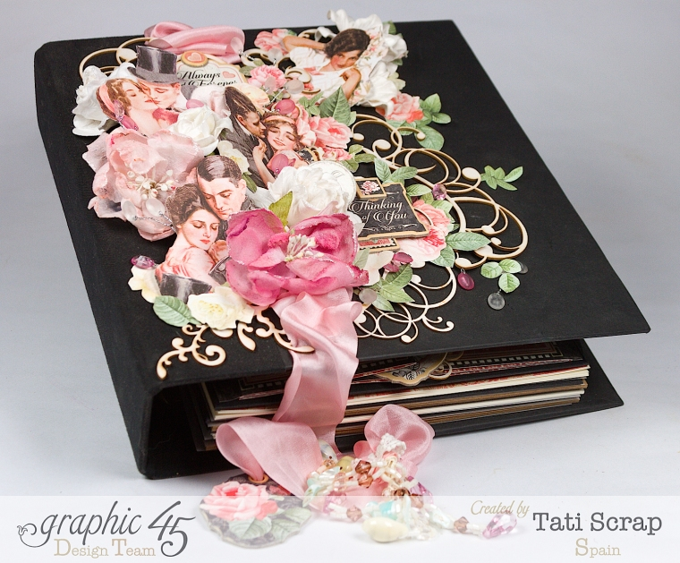 Tati, Just Married, Mixed Media Album, Mon Amour, Product by Graphic 45, Photo 1