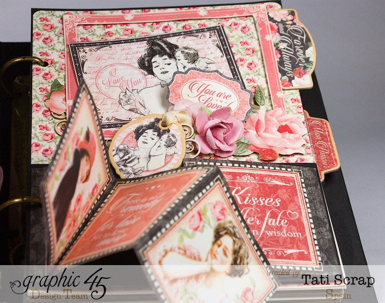 Tati, Just Married, Mixed Media Album, Mon Amour, Product by Graphic 45, Photo 11