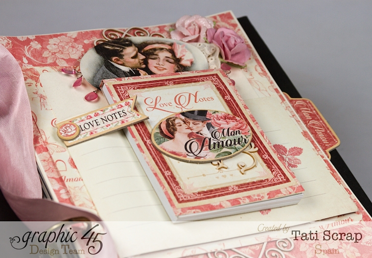 Tati, Just Married, Mixed Media Album, Mon Amour, Product by Graphic 45, Photo 12