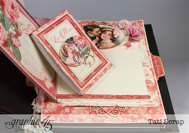 Tati, Just Married, Mixed Media Album, Mon Amour, Product by Graphic 45, Photo 13