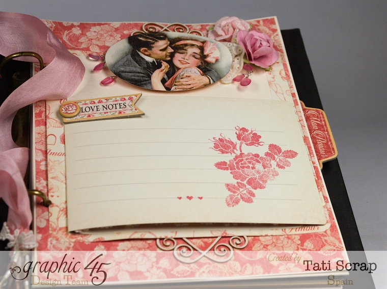 Tati, Just Married, Mixed Media Album, Mon Amour, Product by Graphic 45, Photo 14