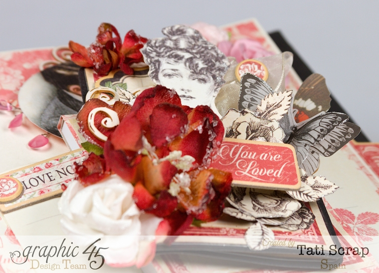 Tati, Just Married, Mixed Media Album, Mon Amour, Product by Graphic 45, Photo 15