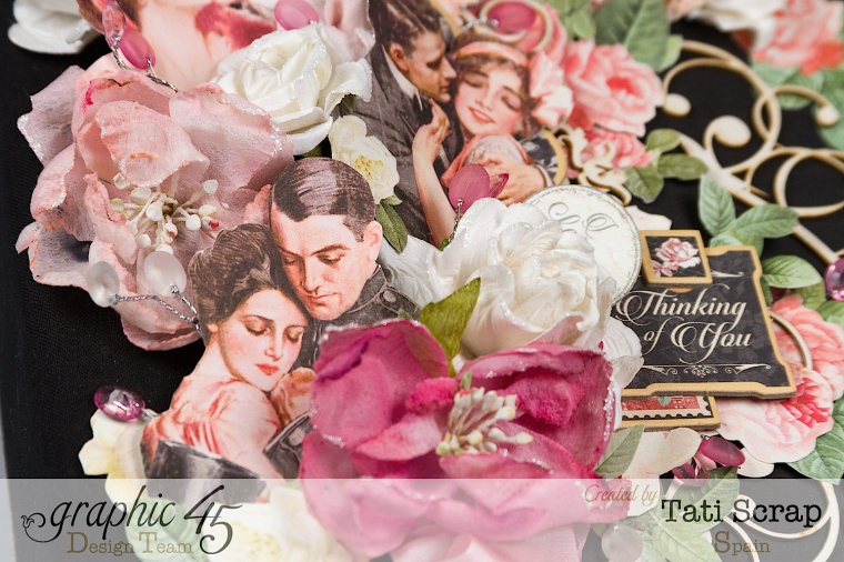 Tati, Just Married, Mixed Media Album, Mon Amour, Product by Graphic 45, Photo 3