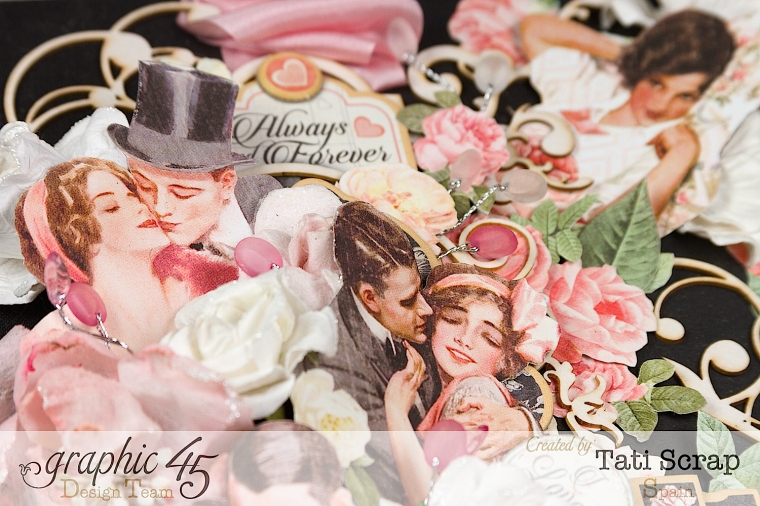Tati, Just Married, Mixed Media Album, Mon Amour, Product by Graphic 45, Photo  5