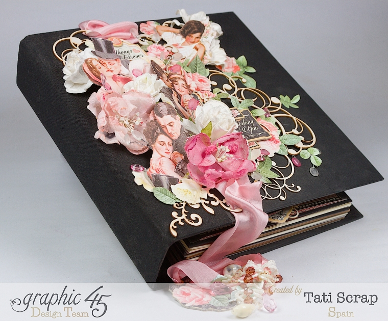 Tati, Just Married, Mixed Media Album, Mon Amour, Product by Graphic 45, Photo 6
