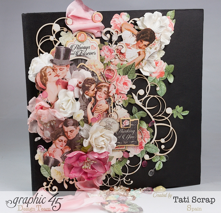 Tati, Just Married, Mixed Media Album, Mon Amour, Product by Graphic 45, Photo  7