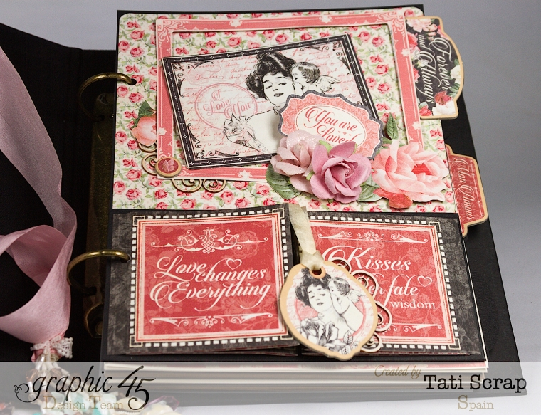 Tati, Just Married, Mixed Media Album, Mon Amour, Product by Graphic 45, Photo 8