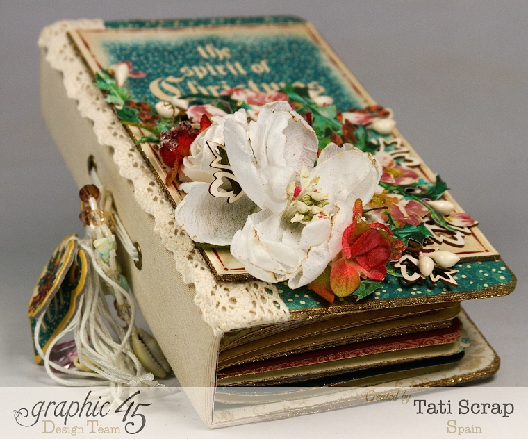 Tati, December Daily, Mini Album Christmas Carol, Product by Graphic 45, Photo 3