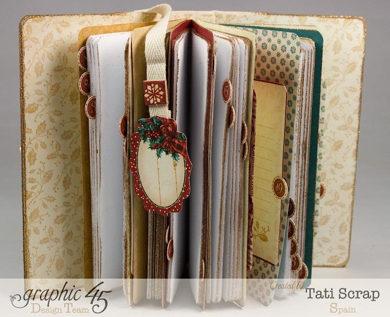 Tati, December Daily, Mini Album Christmas Carol, Product by Graphic 45, Photo 7