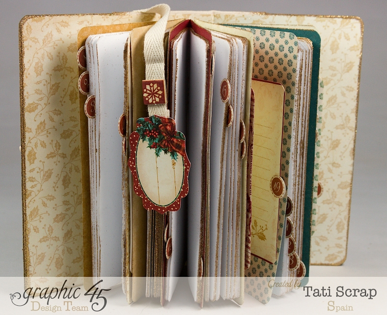 Tati, December Daily, Mini Album Christmas Carol, Product by Graphic 45, Photo 7