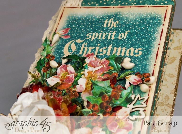 Tati, December Daily, Mini Album Christmas Carol, Product by Graphic 45, Photo11