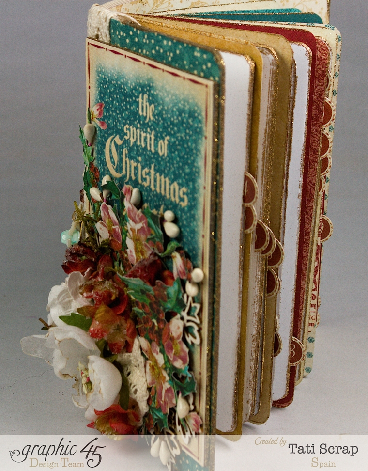 Tati, December Daily, Mini Album Christmas Carol, Product by Graphic 45, Photo14
