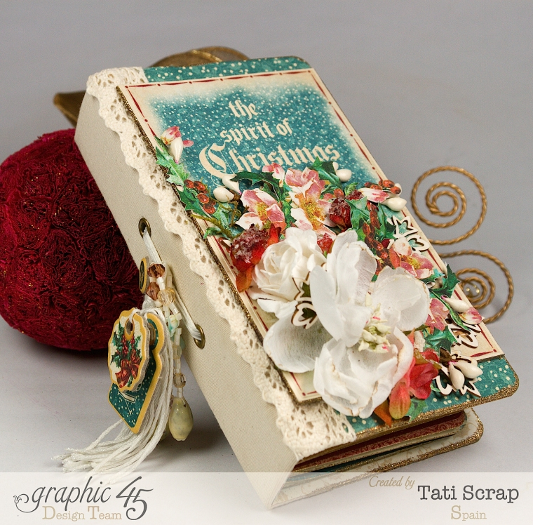 Tati, December Daily, Mini Album Christmas Carol, Product by Graphic 45, Photo4