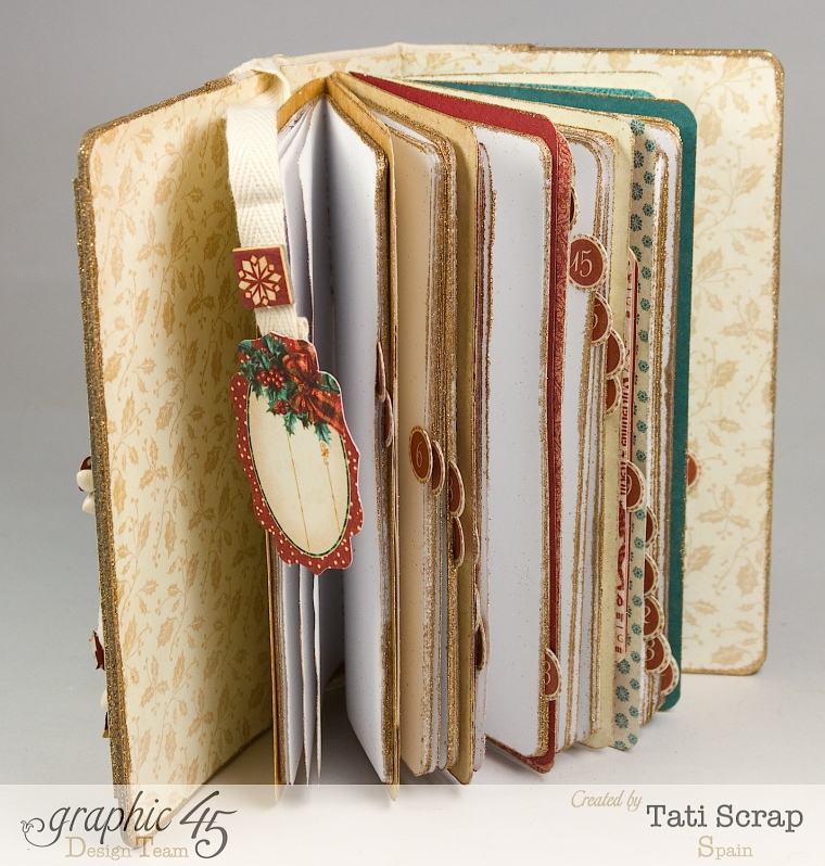 Tati, December Daily, Mini Album Christmas Carol, Product by Graphic 45, Photo5