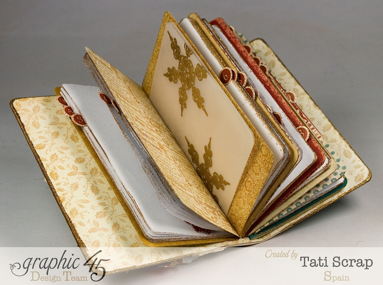 Tati, December Daily, Mini Album Christmas Carol, Product by Graphic 45, Photo8