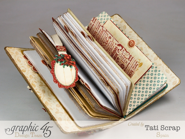 Tati, December Daily, Mini Album Christmas Carol, Product by Graphic 45, Photo9