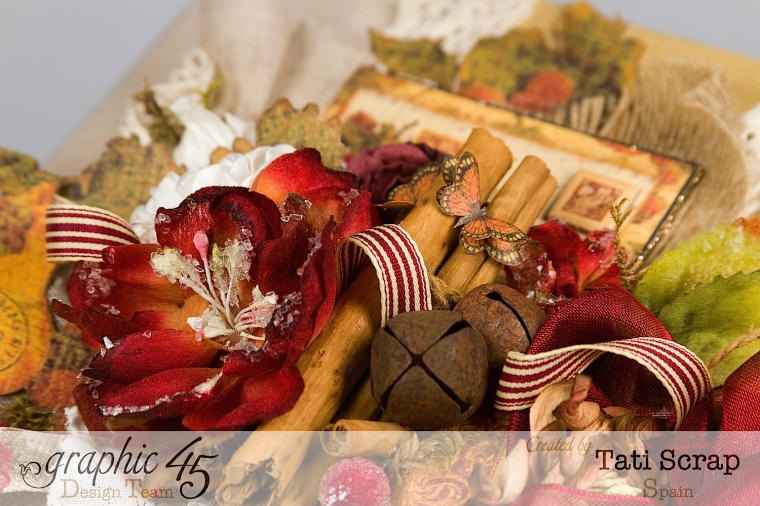"Tati, ""Dreams Of Autumn"" Recice Book, Mixed Media Album, 0Product by Graphic 45, Photo 1"